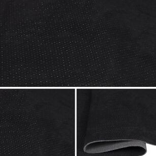 microfaser alicante kaschiert perforiert t136 09 schwarz. Black Bedroom Furniture Sets. Home Design Ideas