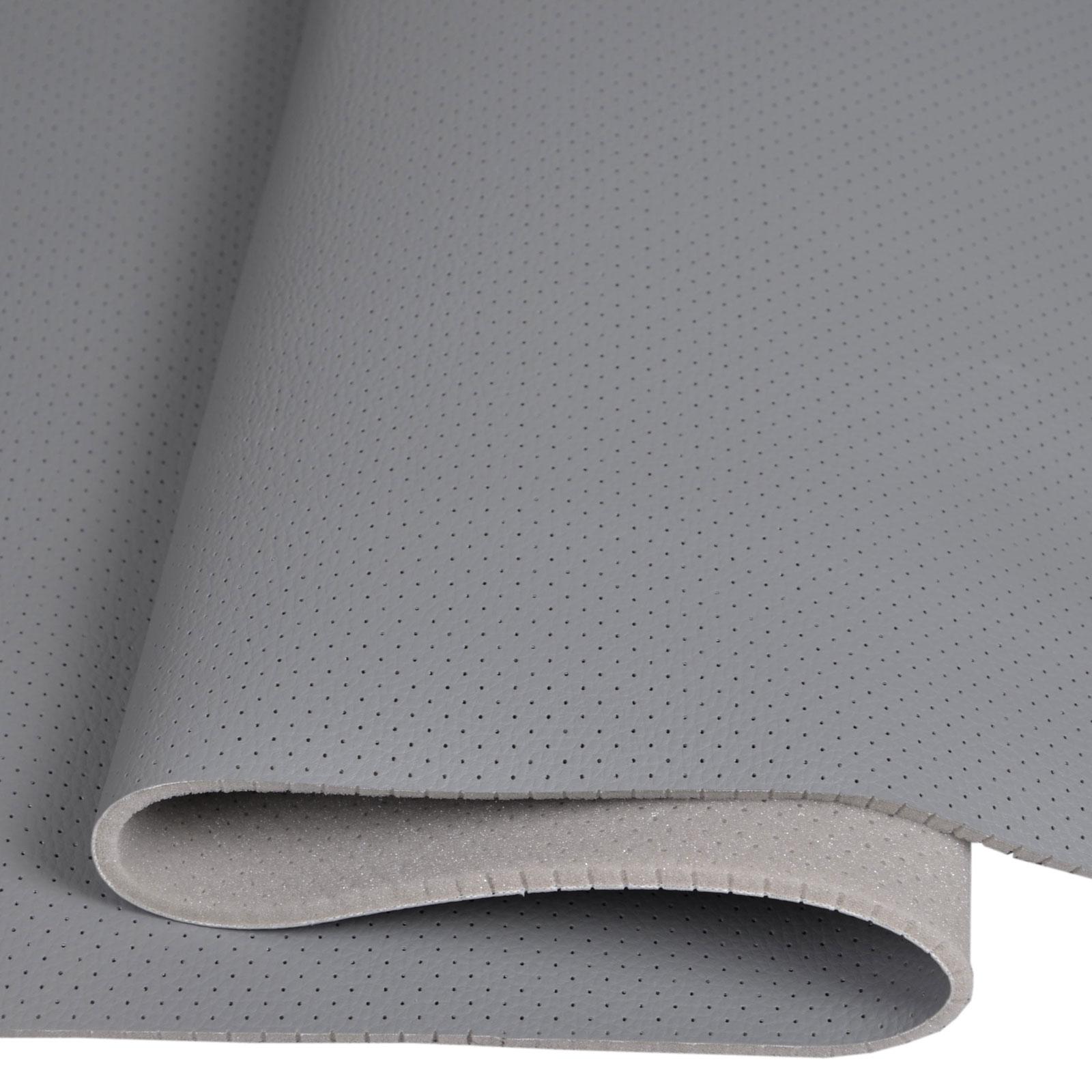 Kunstleder Leder PVC Sitzbezug perforiert kaschiert T130/_09 Grau